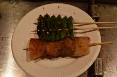 Chicken skewer and shishito chilli